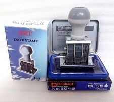 PAID RUBBER Stamp Stamper Date Year Wheel 2016-2027 Office Bill With Ink Pad