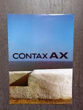 depliant brochure CONTAX AX fotocamera