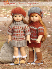 "Knitting Pattern Ayanna fairisle sweater dress only for 18"" American Girl dolls"