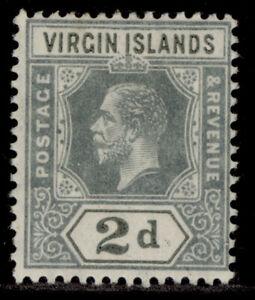 BRITISH VIRGIN ISLANDS GV SG71a, 2d slate-grey, M MINT.