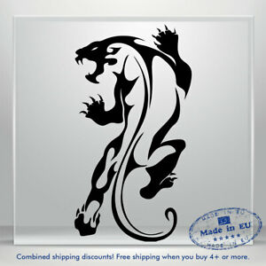 Jaguar Vinyl Sticker Decal Tiger Scary Puma Auto Car Bumper Window DIY Decor Art