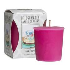 4 X Bridgewater Candles Votive Candles Scent Tea Party Brand New In Box
