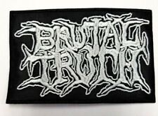 BRUTAL TRUTH WHITE LOGO EMBROIDERED PATCH