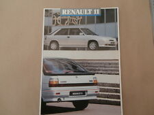 Renault 11  Brochure 1987-1988 Includes TC GTL TXE GTD Turbo 24 Pages.  Mint
