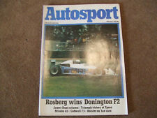 Autosport 29 June 1978 Ypres Rally Misano G5 Donington F2 G1 Oulton Aurora F1