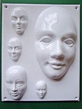 Venezianische Maske 5-fach Form basteln Gießform Gips Keramik Schokolade Beton