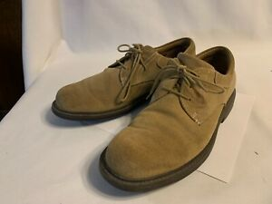 Redwing Shoes 4073 Tan Suede Leather Mens Lace Oxford Shoes Size 9.5 D