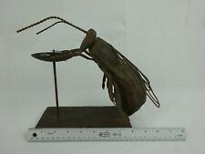 House Fly Metal Sculpture Yard Art / Candle Holder ~ Rust Color Finish ~