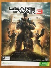 Gears of War 3 Xbox 360 One PC 2011 Poster Ad Pop Art Marcus Fenix Awesome Rare