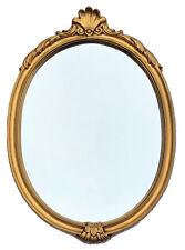 Exclusivo Espejo Barroco de Pared Antiguo Rococo Repro Ovalado Oro 65x42cm