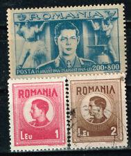 Romania WW2 King Michael in military uniform stamps 1945 MLH/U