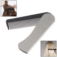 Portable Hair Comb Brush Foldable Massage Hair Comb Folding Hairdressing Tool QA