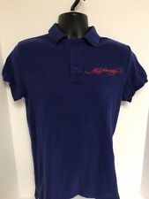 Ed Hardy Polo Shirt Blue Panther by Christian Audigier Men's Size SMALL