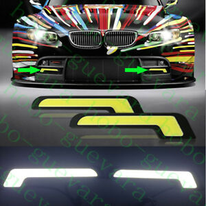 2X Car SUV White L-COB LED Daylight Bulb DRL LAMP Daytime Running Light diy