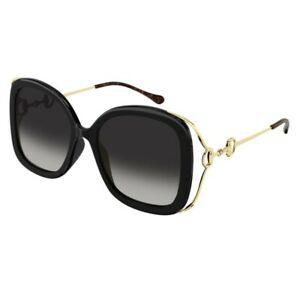 Occhiali da Sole Gucci GG1021S 002 56-19-135 Donna black lenti grey gradient