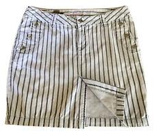 Industrie Ladies Denim Skirt Grey Striped Pockets Size 10