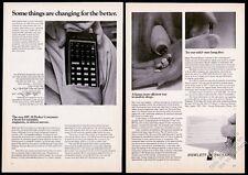 1972 HP-35 calculator photo 'Pocket Computer' Hewlett-Packard vintage print ad