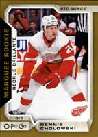 2018-19 O-Pee-Chee Update Gold Border #633 Dennis Cholowski RC Rookie Red Wings