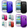 Grip S Line Wave Gel Phone Case Cover For Samsung Galaxy Fame S6810 S6812 + Film