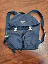 Authentic PRADA VELA Nylon MINI Backpack Navy Blue with 2 small pockets