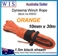 Orange Dyneema Winch Rope/Synthetic Cable 10mm x 30m 4WD Recovery Offroad-45933