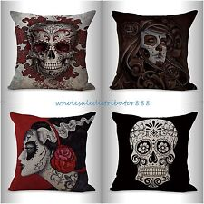 4pcs cushion covers sugar skull Day of the Dead covers for couch pillows