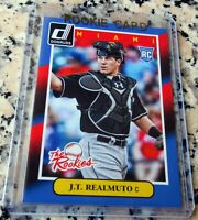 J.T. REALMUTO 2014 Donruss Rookie Card RC Logo Philadelphia Phillies $$ HOT $$