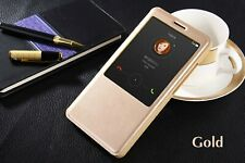 Case Flip S View Cover Golden & Gold Huawei Ascend Mate 7