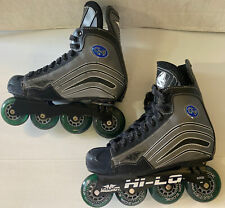 Mission C-4 Hockey Roller Skates Hi-Lo Hyper Razor Edge Wheels Men's Size 9