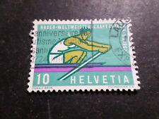 SUISSE 1962, timbre 690, SPORT AVIRON, oblitéré, used