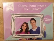 Silver inflatable photo frame foil balloon Photo booth party props