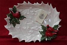 Kaldun & Bogle Christmas Snowy Garden Cardinal Platter