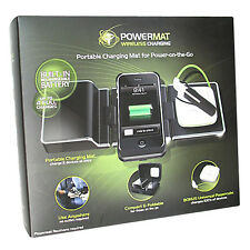 Powermat PMM-2PX-B1 2X Portable Wireless Charging Mat w. Universal Powercube
