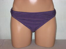 Converse One Star Bikini Swimsuit Bottoms Purple Black Stripe Sz X-Large 16 NWT