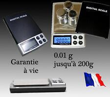 Balance électronique de précision 0.01gr à 200 gr Pèse de Poche Scale 0,01 0,01g
