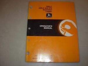 John Deere 200LC 330LC 370 Excavator Logger Operator's Manual , OMT166604 L9