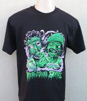 Cheech and Chong Marijuana Zombie weed Mens 100% Cotton Black T-Shirt Tee