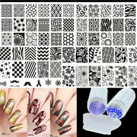 Multi-patterns Nail Art Stamping Plates Kit with Clear Stamper Set Born Pretty