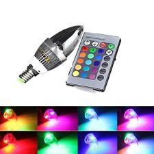 3W E14 RGB LED 16 Farbwechsel Kerze Lampe Glühbirne Licht mit Fernbedienung