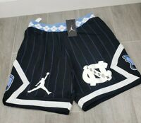 Nike Air Jordan UNC NRG fleece shorts men large Rare Black blue retro University