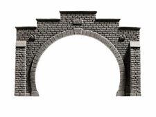 NOCH 58052 Tunnelportal 2-gleisig 21x14cm Tunnel Portal Steinmauer H0 Neu