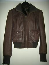 LADIES OASIS BROWN QUALITY SOFT SUPPLE THICK LEATHER FULLY LINED JACKET 12