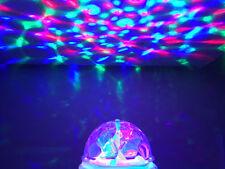 Childrens Party LUCI A BAIONETTA CAP RACCORDO Fase Illuminazione Lampadina DISCOTECA PALLA LED