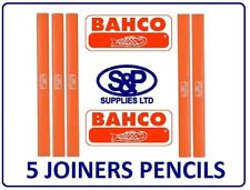 JOINERS PENCIL CARPENTERS PENCIL BUILDERS PENCIL 5 PENCILS BAHCO BRAND - NEW