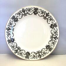 "Royal Doulton Fine Bone China - Standard 9"" Salad Plate Pattern RD139 Black"