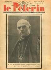 WWII Portrait Cardinal Jean Verdier Archevêque de Paris France 1940 ILLUSTRATION