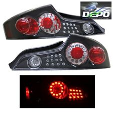 LED Tail Lights BLACK Housing by DEPO Fits 03-05 Infiniti G35 G-35 Coupe 2D