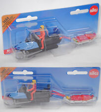 Siku Super 1684 Snowmobil Motorschlitte) mit Rettungsschlitte, MOUNTAIN / RESCUE