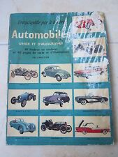 Automobiles D'hier et d'aujourd'hui - Sticker Book French very old - Full