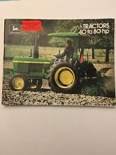John Deere Tractors 40 To 80 HP Sales Brochure Original